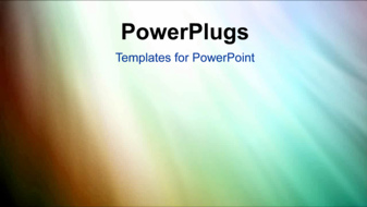 PowerPoint Template - Colorful background